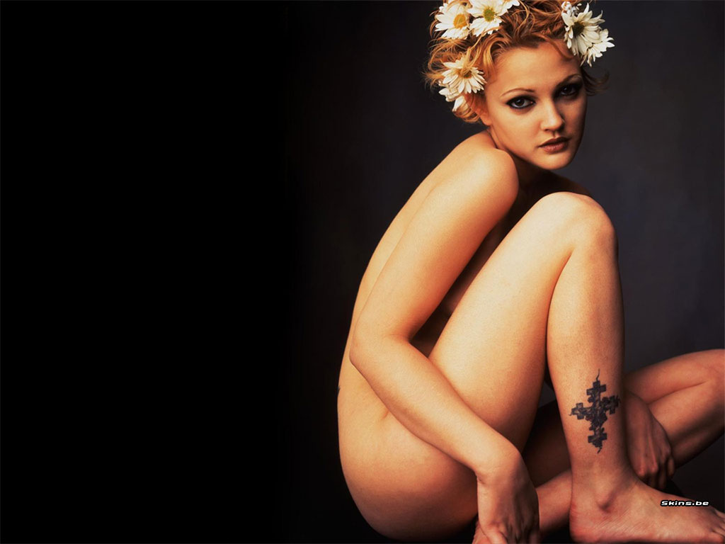 Drew Barrymore nude at Vogue